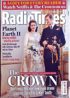 RADIO TIMES magazine Nov 5th 2016 Claire Foy Matt Smith The Crown Jeremy Northam