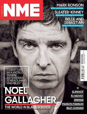 NME Magazine 17 January 2015 NOEL GALLAGHER SLEATER-KINNEY DRENGE BILLY CORGAN