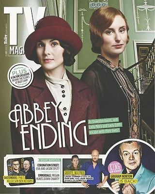 TV MAGAZINE SEPT 2014 DOWNTON ABBEY LACEY TURNER DAVID MORRISSEY RUSSELL TOVEY