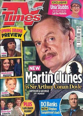 TV TIMES MAGAZINE FEBRUARY 2015 MARTIN CLUNES SHERLOCK HOLMES PHOTO INTERVIEW