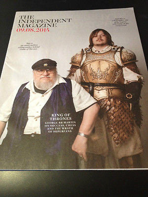 GEORGE RR MARTIN on GAME OF THRONES STEPHANIE BEACHAM Independent Magazine 2014