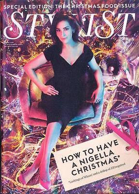 BRAND NEW STYLIST MAGAZINE CHRISTMAS 2015 NIGELLA LAWSON PHOTO COVER SPECIAL
