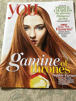 Game of Thrones SOPHIE TURNER PHOTO COVER 2014 SAM CLAFLIN PRINCE CHARLES 24 PGS
