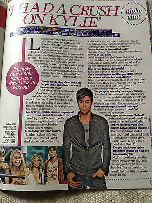 Kylie Minogue ENRIQUE IGLESIAS Photo Interview March 2014 magazine THE VOICE