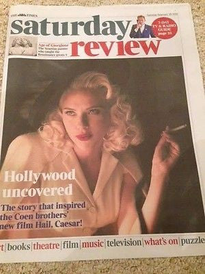 Hail, Caesar! Scarlett Johansson PHOTO COVER TIMES REVIEW 2016 TOM HIDDLESTON