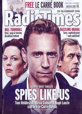 The Night Manager TOM HIDDLESTON Photo Cover UK Radio Times Magazine Feb 2016