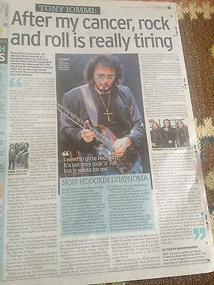 Black Sabbath TONY IOMMI PHOTO INTERVIEW UK 1 DAY ISSUE 2015