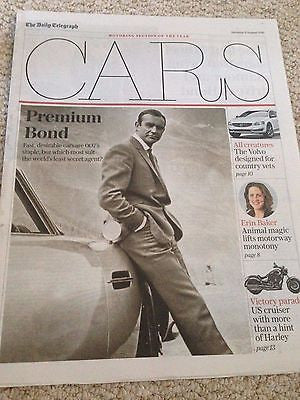 James Bond 007 Roger Moore UK Cars Supplement Cover 8 August 2015 New