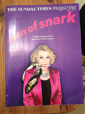 ST MAGAZINE SEPT 2014 JOAN RIVERS KEITH RICHARDS ROLLING STONES NATALIE DORMER