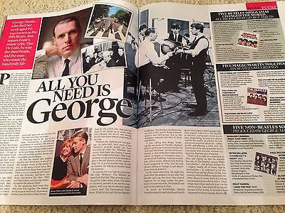 The Beatles GEORGE MARTIN ELIZABETH (LIZ) TAYLOR MARTIN SHAW UK MAGAZINE 2016
