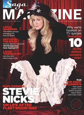 SAGA magazine JUNE 2015 STEVIE NICKS FLEETWOOD MAC PHOTO INTERVIEW