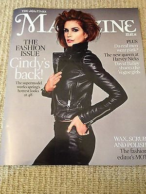 CINDY CRAWFORD - NEW - UK COVER TIMES MAGAZINE - COVER 1 OF 4 LIMITED EDITION