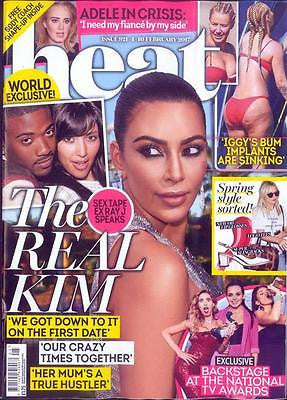 UK Heat Magazine February 2017 Kim Kardashian Jared Leto Dan Stevens