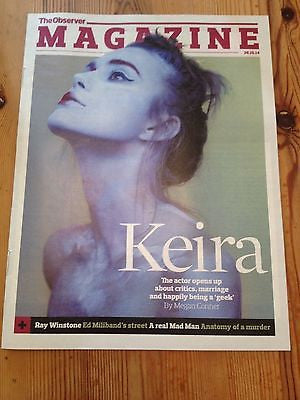 KEIRA KNIGHTLEY Photo Cover interview OBSERVER MAGAZINE NOV 2014 JEAN SHRIMPTON