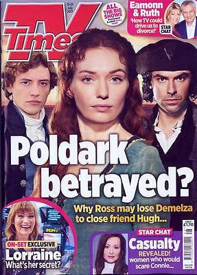 UK TV Times magazine 15 July 2017 Aidan Turner Poldark Josh Whitehouse