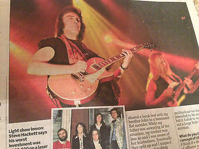 STEVE HACKETT interview GENESIS UK 1 DAY ISSUE 2015