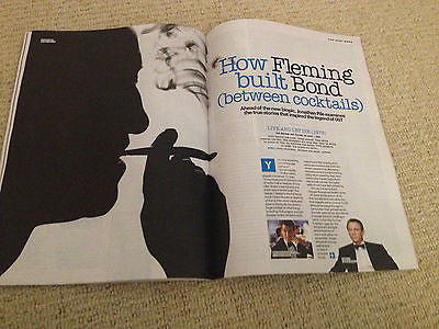 UK FASHION MAGAZINE 2014 IAN FLEMING JAMES BOND DOMINIC COOPER RUSSELL CROWE
