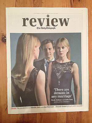 COLIN FIRTH Nicole Kidman BEFORE I GO TO SLEEP Photo Cover Interview Sept 2014
