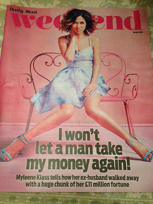 WEEKEND MAGAZINE JULY 2015 MYLEENE KLASS NATHANIEL PARKER STEPHANIE COLE