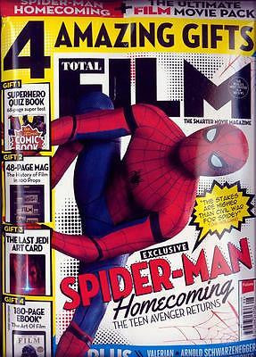 Total Film Magazine August 2017 Spider-Man Homecoming & Free Last Jedi Art Card