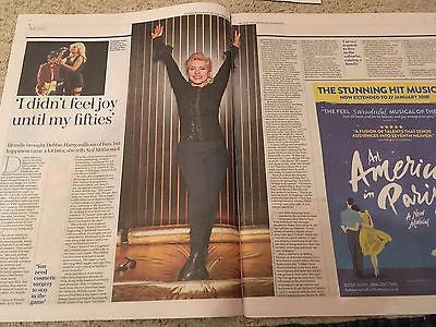 UK Telegraph Review April 2017 Blondie Debbie Harry Photo Interview