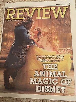 Sunday Express Review March 2017 Beauty And The Beast Emma Watson Dan Stevens