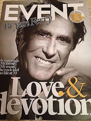 (UK) EVENT MAGAZINE NOVEMBER 2015 BRYAN FERRY ROXY MUSIC PHOTO INTERVIEW - ADELE