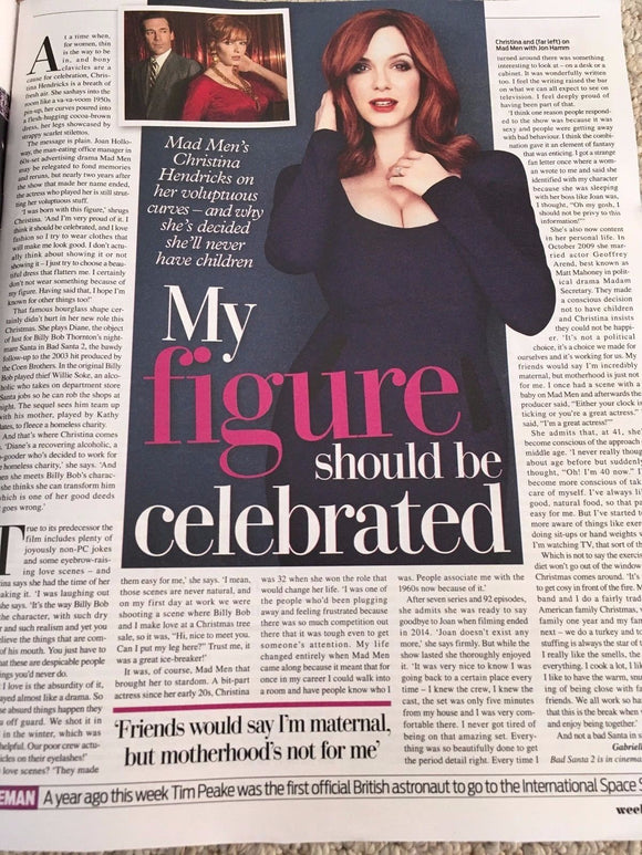 WEEKEND MAGAZINE 12/2016 JAMES MARTIN Derek Jacobi CHRISTINA HENDRICKS Henshall