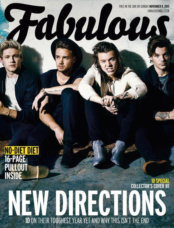 1D One Direction UK Fabulous Magazine - Group Cover - November 2015 - NEW (Harry Styles Niall Horan Liam Payne Louis Tomlinson)