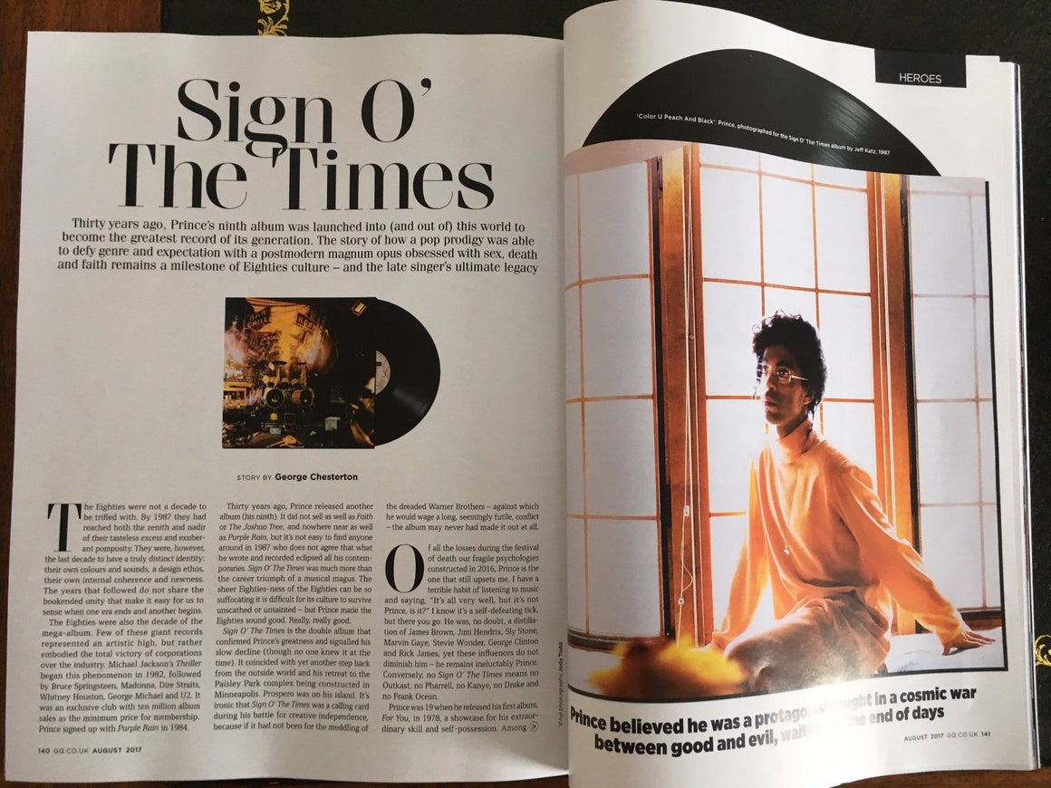 UK GQ Magazine August 2017 Prince - Heroes Special