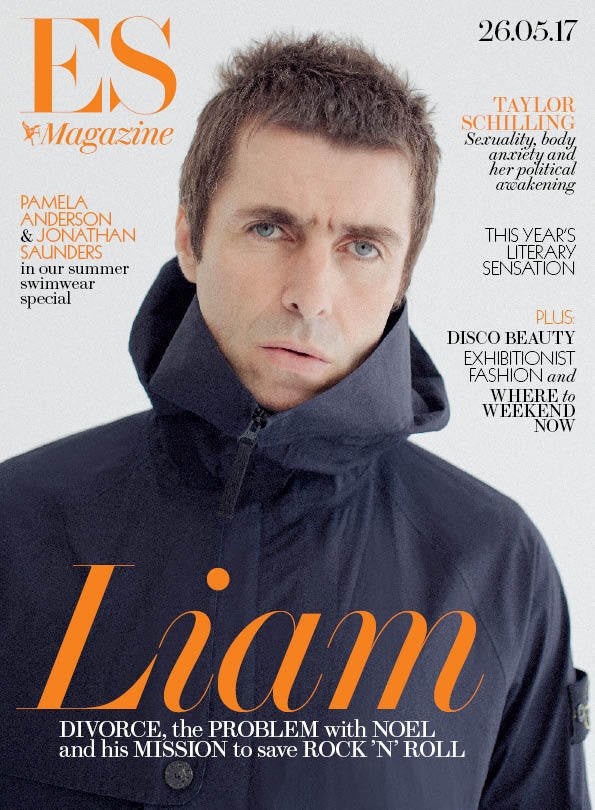 Oasis LIAM GALLAGHER Photo Cover interview UK London ES MAGAZINE May 2017