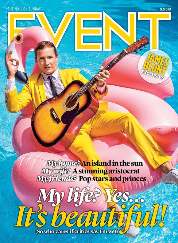 JAMES BLUNT Exclusive - Cover Story Event UK magazine 25th June 2017