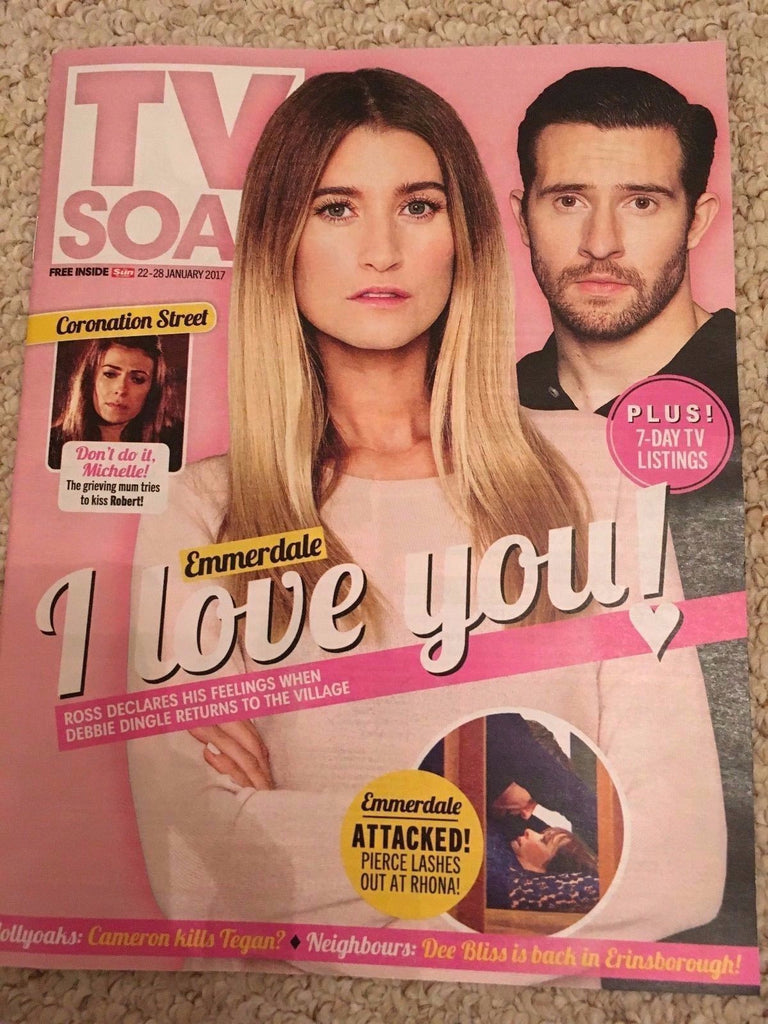 TV SOAP MAGAZINE JAN 22 2017 CHARLEY WEBB Michael Parr BEN PRICE DUNCAN PRESTON