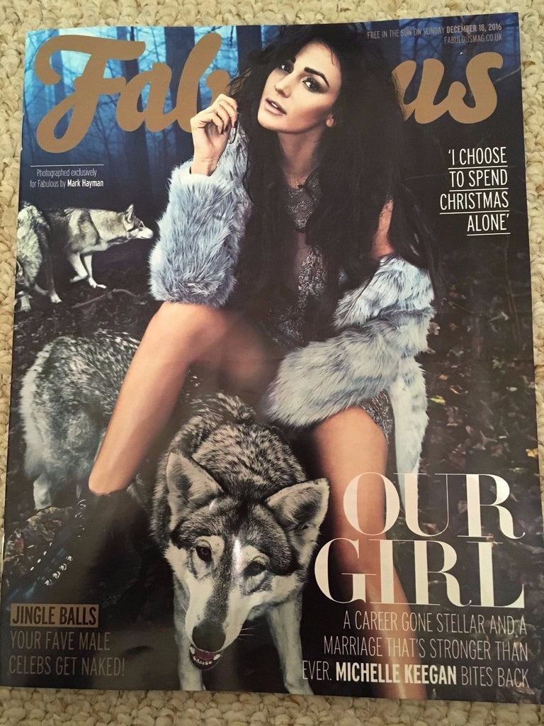 FABULOUS Magazine December 2016 MICHELLE KEEGAN Photo Cover Interview Aled Jones