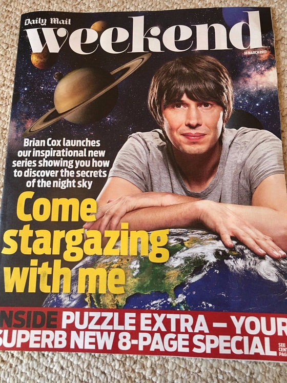 Weekend MAGAZINE 03/2017 BRIAN COX Emma Watson JULIAN CLARY David Suchet