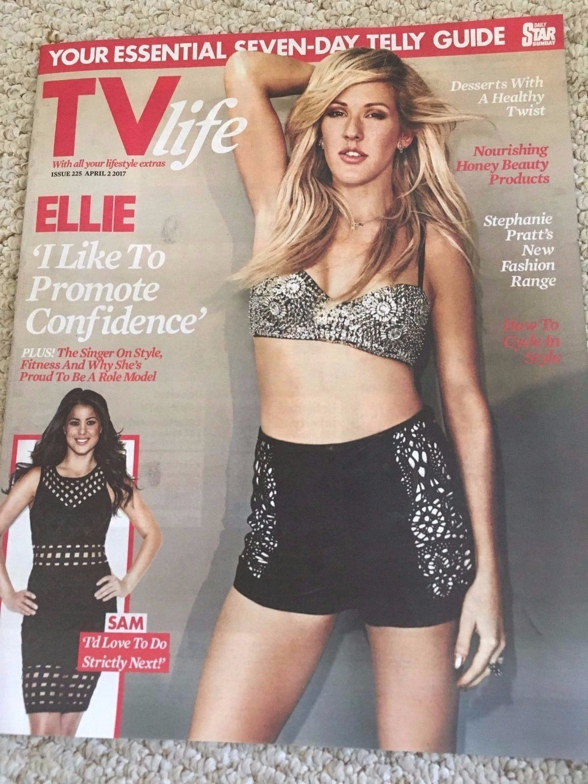 TV Life Magazine April 2017 Ellie Goulding Photo Cover interview