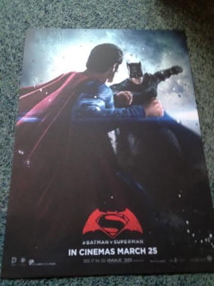 BATMAN V SUPERMAN DAWN OF JUSTICE 2 SIDED ORIGINAL IMAX UK MOVIE POSTER