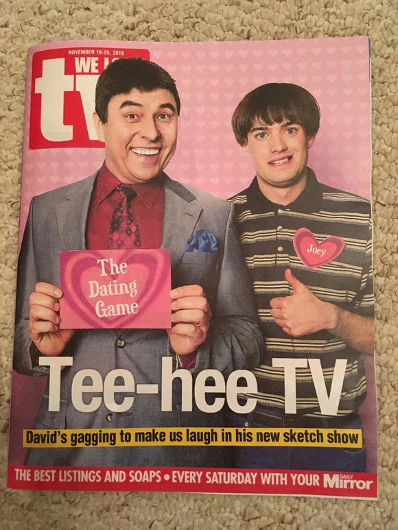 WE LOVE TV Magazine 11/2016 DAVID WALLIAMS Philip Glenister DANNY DYER