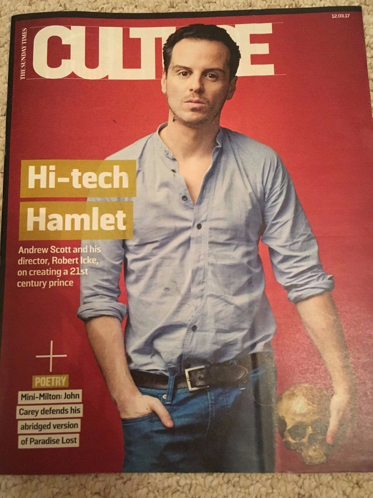 UK Culture Magazine 12 March 2017 Sherlock Andrew Scott Photo Cover Interview