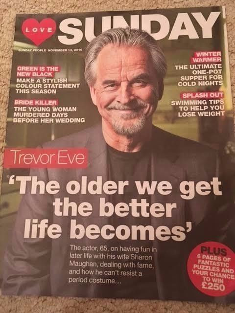 LOVE Sunday Magazine November 2016 TREVOR EVE PHOTO COVER INTERVIEW