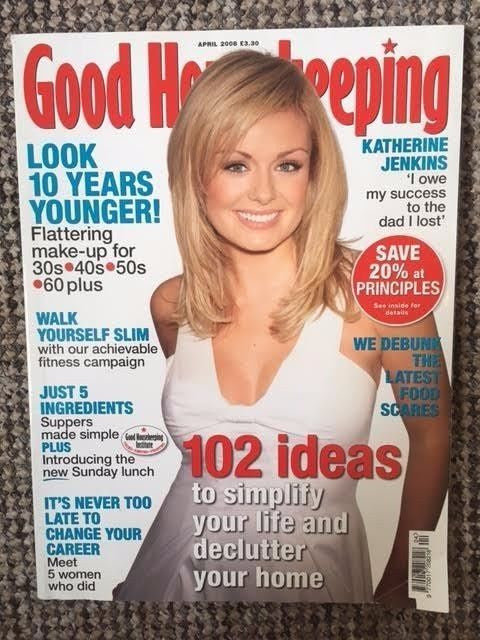 Good Housekeeping Magazine April 2006 Katherine Jenkins Cover Interview