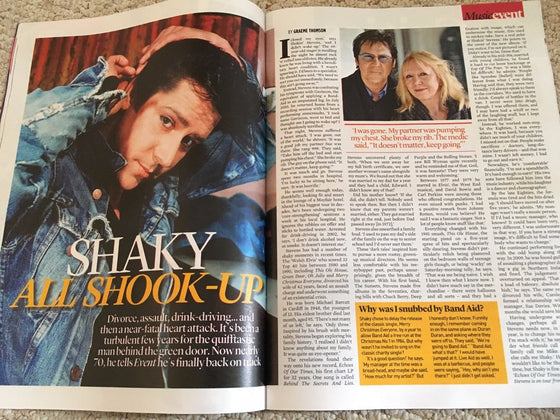UK Event Magazine 2 April 2017 Shakin Stevens Photo Interview - David Tennant