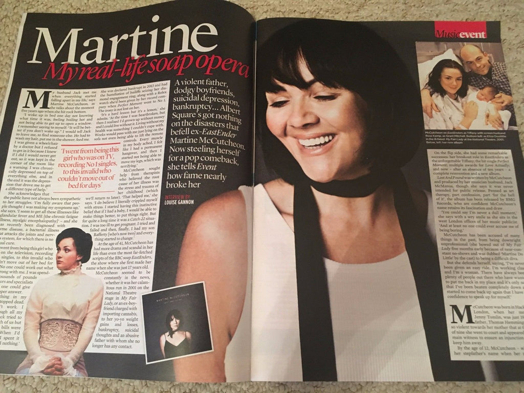 Event magazine 06/2017 Martine McCutcheon Celine Dion Andrew Scott James Norton