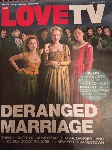WE LOVE TV Magazine Apr 2017 Jamestown Niamh Walsh Naomi Battrick Sophie Rundle
