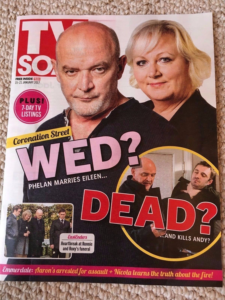 TV SOAP MAGAZINE JAN 15 2017 SUE CLEAVER Danny Miller SCOTT MASLEN