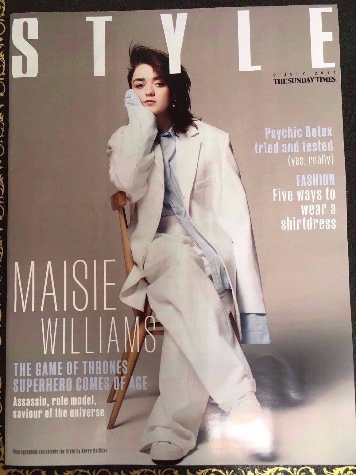 Game of Thrones MAISIE WILLIAMS Cover Interview Style UK magazine 9 July 2017