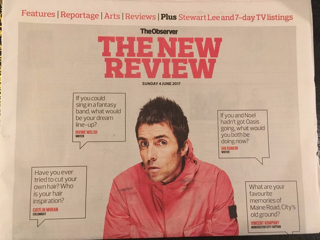 Observer Review - Liam Gallagher Cover And Interviews - One Day Publication Only