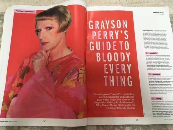 Time Out Magazine June 2017 Grayson Perry Taylor Mac Rachel Weisz Richard Dawson