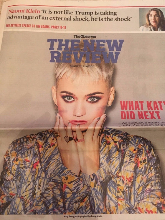 Witless KATY PERRY Photo Cover interview UK Observer Review June 2017
