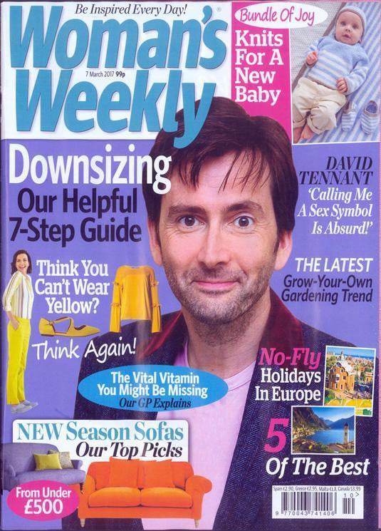 UK Woman's Weekly Magazine March 2017 David Tennant Cover